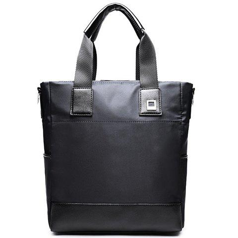 Casual Solid Color and Nylon Design Men's Briefcase - BLACK