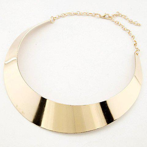 Moon Shape Alloy Necklace - GOLDEN