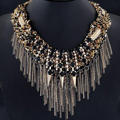 Chic Alloy Rivet Chains Necklace For Women