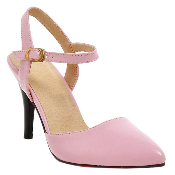 Fashionable Slingbacks and Stiletto Heel Design Women's Pumps - PINK 40