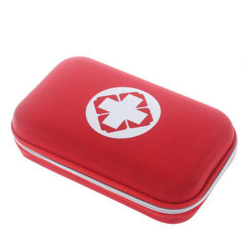 Portable 18 Kinds/Pack Camping Travel Medical Treatment Pack Set First Aid Kit - RED