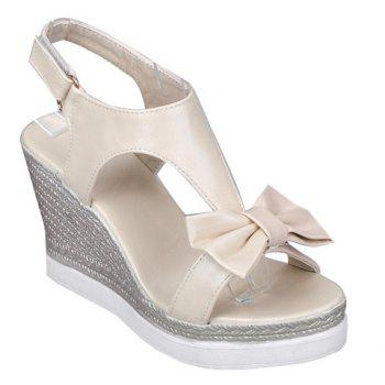 Bowknot Embellish Wedge Sandals