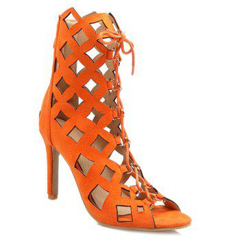 High Heel Caged Sandals