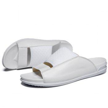 Casual Splicing and Solid Color Design Men's Slippers - 42 42