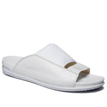 Casual Splicing and Solid Color Design Men's Slippers - WHITE 42
