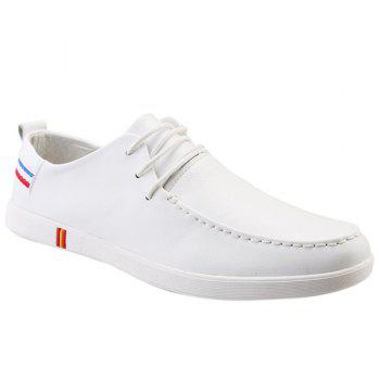Fashionable Stripes and Lace-Up Design Men's Casual Shoes