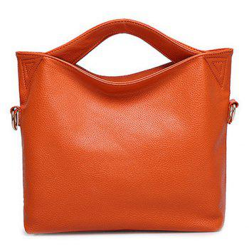 Fashion Solid Color and Open Design Women's Tote Bag