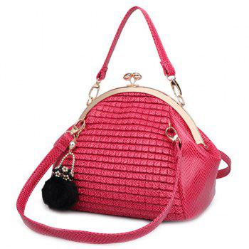 Elegant Hasp and Solid Color Design Women's Tote Bag