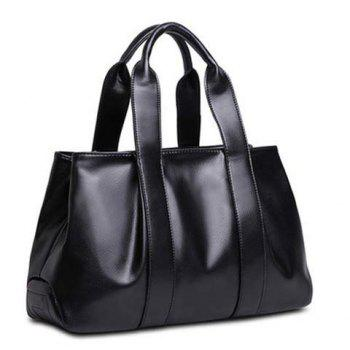 Simple Zip and Stitching Design Women's Tote Bag