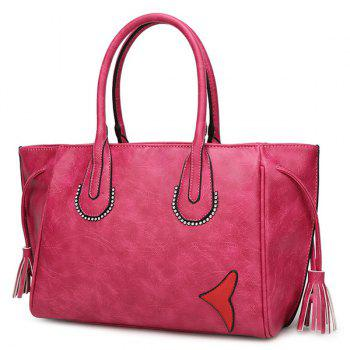 Elegant Tassel and Zip Design Women's Tote Bag