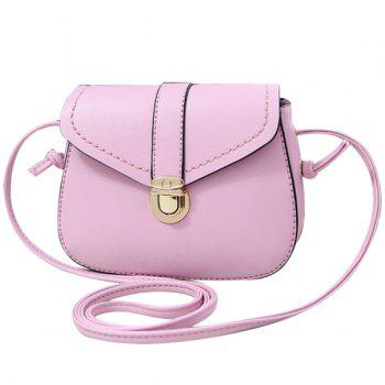 Concise Push Lock and Solid Color Design Women's Crossbody Bag