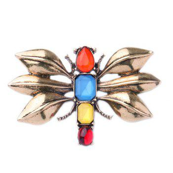 Chic Faux Gem Inlay Dragonfly Shape Women's Brooch