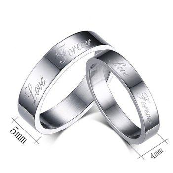 Pair of Silver Plated Love Ring For Lovers