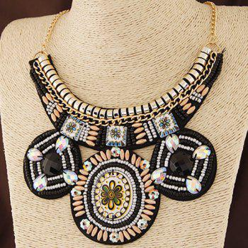 Alloy Floral Beads Necklace