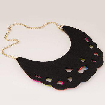 Hollow Out Beads Necklace - GOLDEN