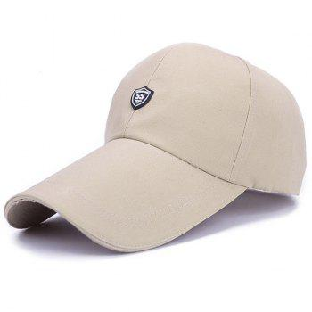 Stylish Numbers Shield Shape Embellished Men's Baseball Cap