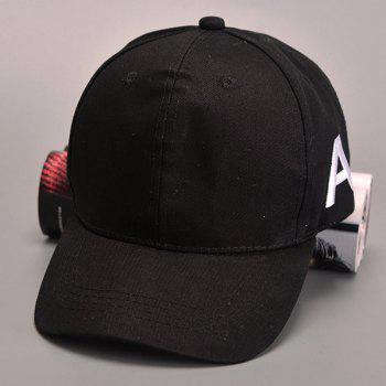 Buy Stylish Letter Embroidery Side Men's Hipsters Baseball Cap BLACK