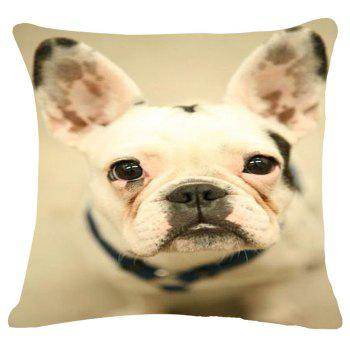 Casual Puppy Pattern Square Shape Flax Pillowcase (Without Pillow Inner)