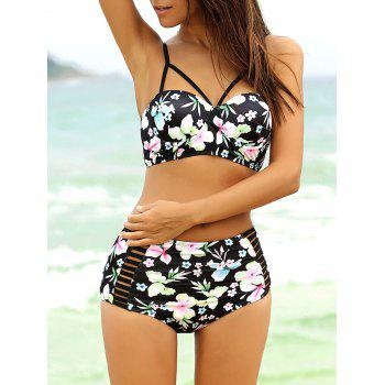 Strappy Cute High Waisted Bathing Suit