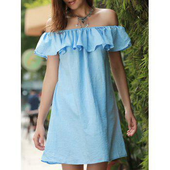 Mini Off The Shoulder Ruffle Dress