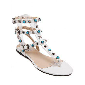 Bohemian Rivet and Flat Heel Design Sandals For Women