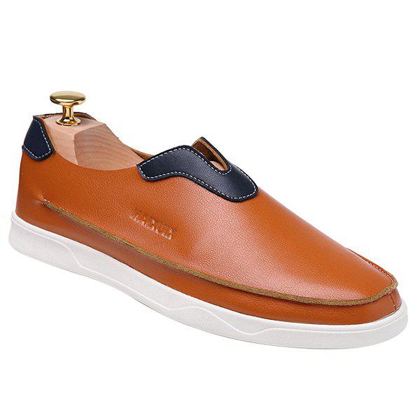 Trendy Colour Matching and PU Leather Design Men's Casual Shoes