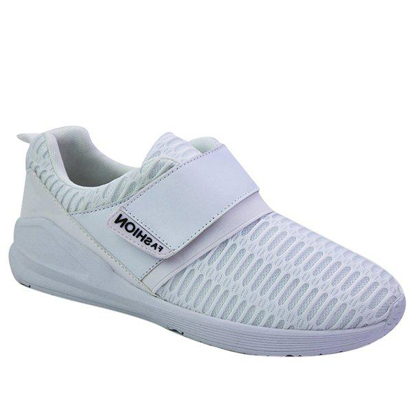 Fashionable Solid Colour and Breathable Design Men's Casual Shoes - WHITE 40