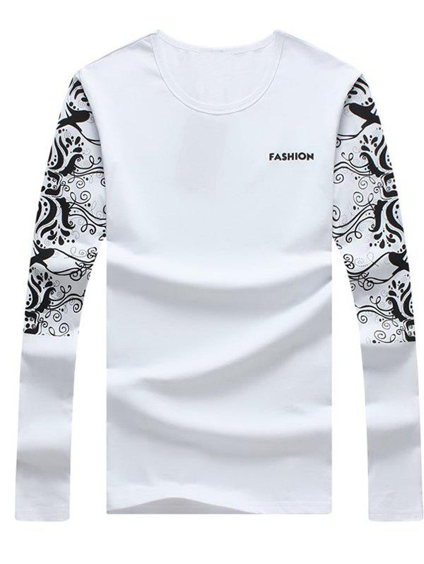 Men's Casual Printed Long Sleeves T-Shirt