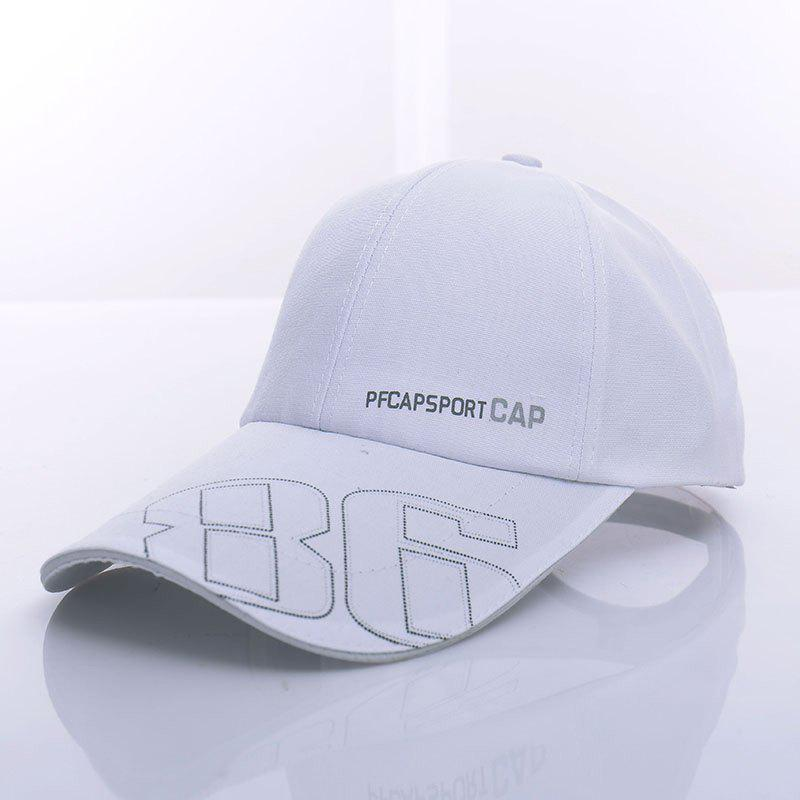Stylish Letter and Number Pattern Men's Baseball Cap - WHITE