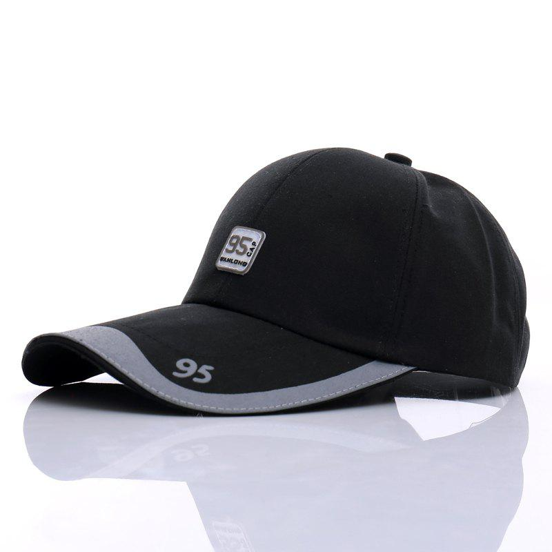 Stylish Numbers Labelling Embellished Outdoor Sport Men's Baseball Cap - BLACK