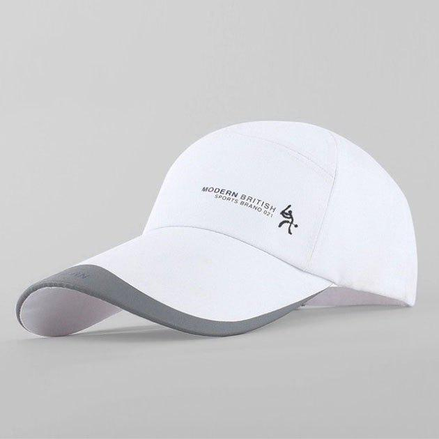 Stylish Small Person and Letter Pattern Outdoor Sport Men's Baseball Cap - WHITE