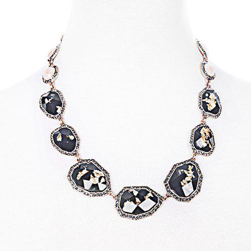 Chic Faux Gem Stone Shape Embellished Women's Necklace