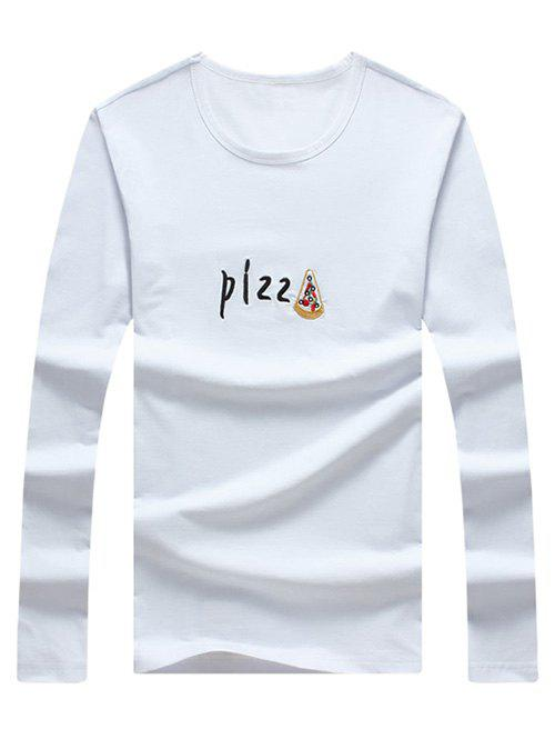 Men's Casual Letter Printed Long Sleeves T-Shirt - WHITE XL