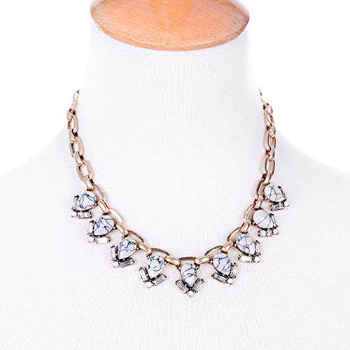 Chic Water Drop Stone Shape Embellished Women's Necklace