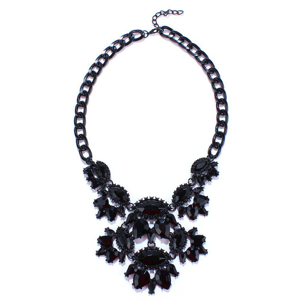 Chic Alloy Oval Hollow Out Necklace For Women