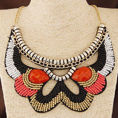 Alloy Beads Necklace - GOLDEN