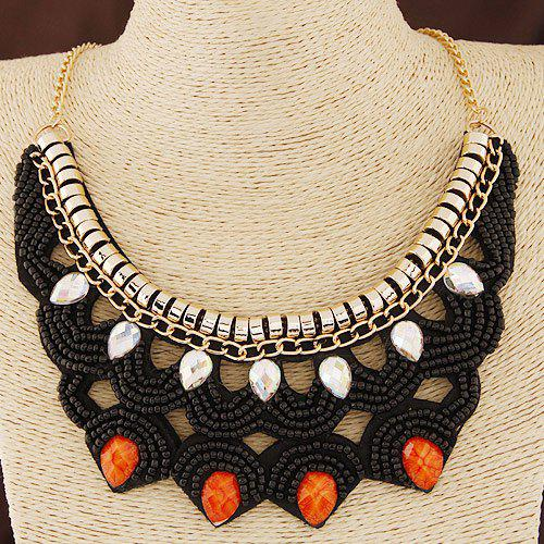 Graceful Alloy Water Drop Beads Necklace For Women