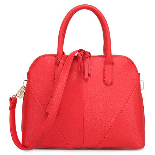 Elegant Stitching and Solid Color Design Women's Tote Bag retro solid color and stitching design women s tote bag