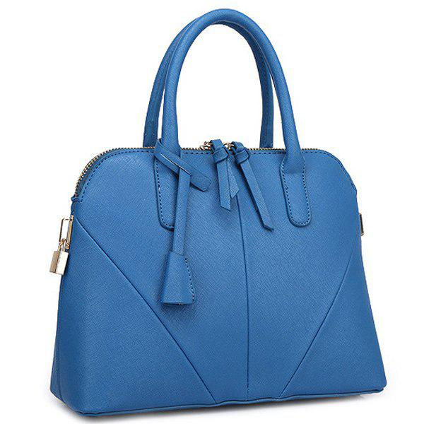 Elegant Stitching and Solid Color Design Women's Tote Bag - BLUE