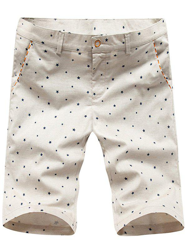 Men's Casual Star Printed Plus Size Shorts