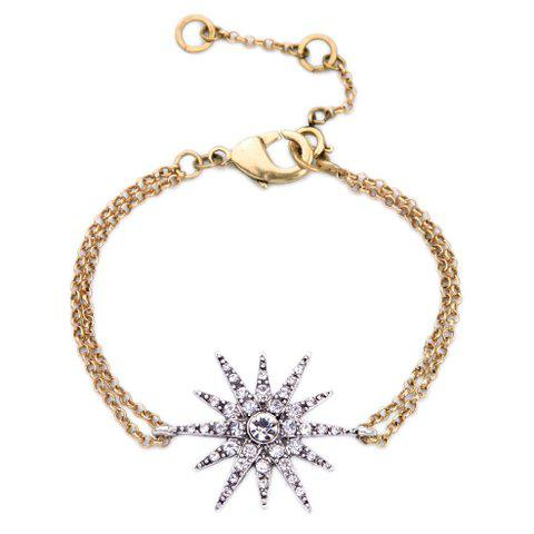 Rhinestone Star Shape Bracelet - GOLDEN