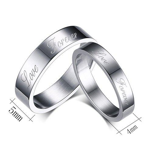 Pair of Silver Plated Love Ring For Lovers - SILVER
