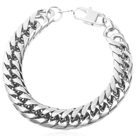 Delicate Stainless Steel Link Bracelet Jewelry For Men - SILVER