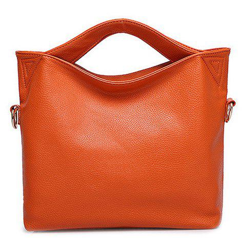 Fashion Solid Color and Open Design Women's Tote Bag - JACINTH