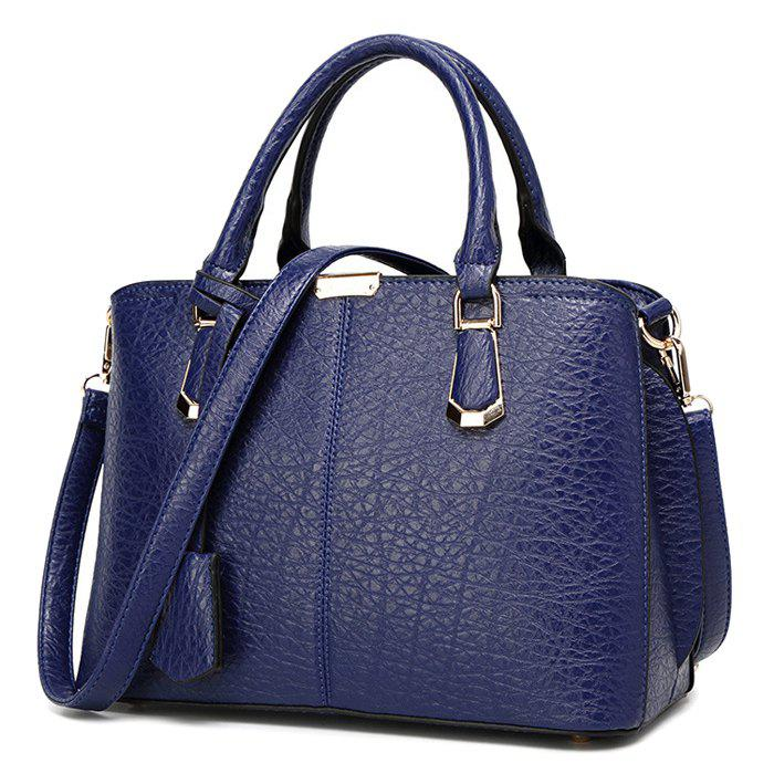 Stylish Zip and Stitching Design Women's Tote Bag - BLUE