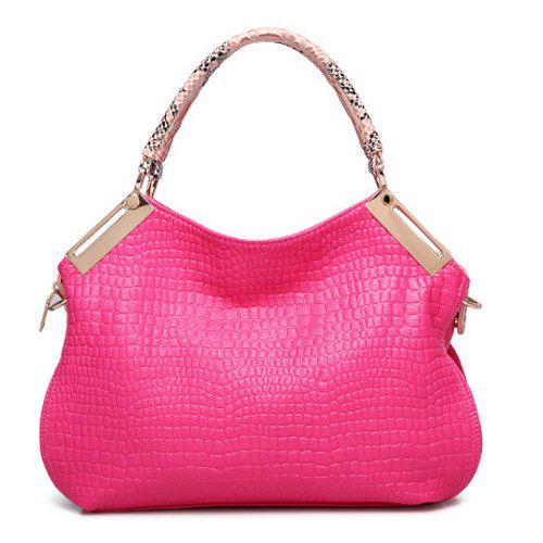 Graceful Embossing and Zip Design Women's Tote Bag
