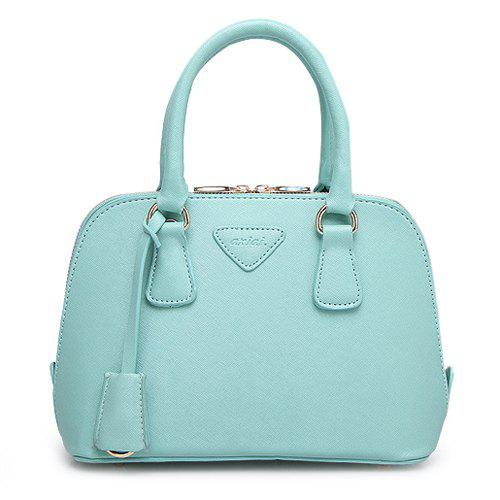 Sweet Letter and Zip Design Women's Tote Bag - MINT GREEN