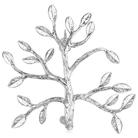 Tree Leaf Alloy Brooch - SILVER