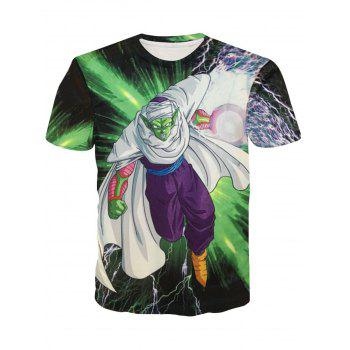 Pullover Fashion Round Collar Character Printing T-Shirt For Men - COLORMIX COLORMIX