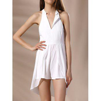 Backless Halter High Low Romper